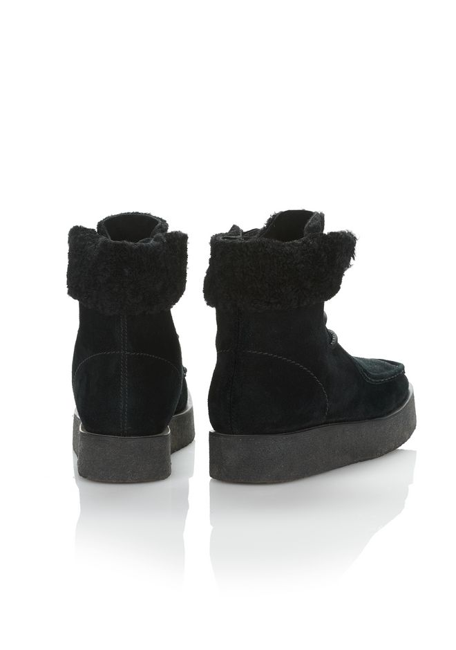 ALEXANDER WANG NOAH SUEDE BOOT WITH SHEARLING  BOOTS Adult 12_n_e