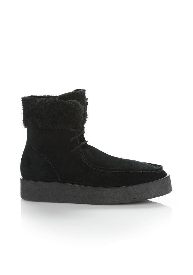 ALEXANDER WANG NOAH SUEDE BOOT WITH SHEARLING  BOOTS Adult 12_n_f