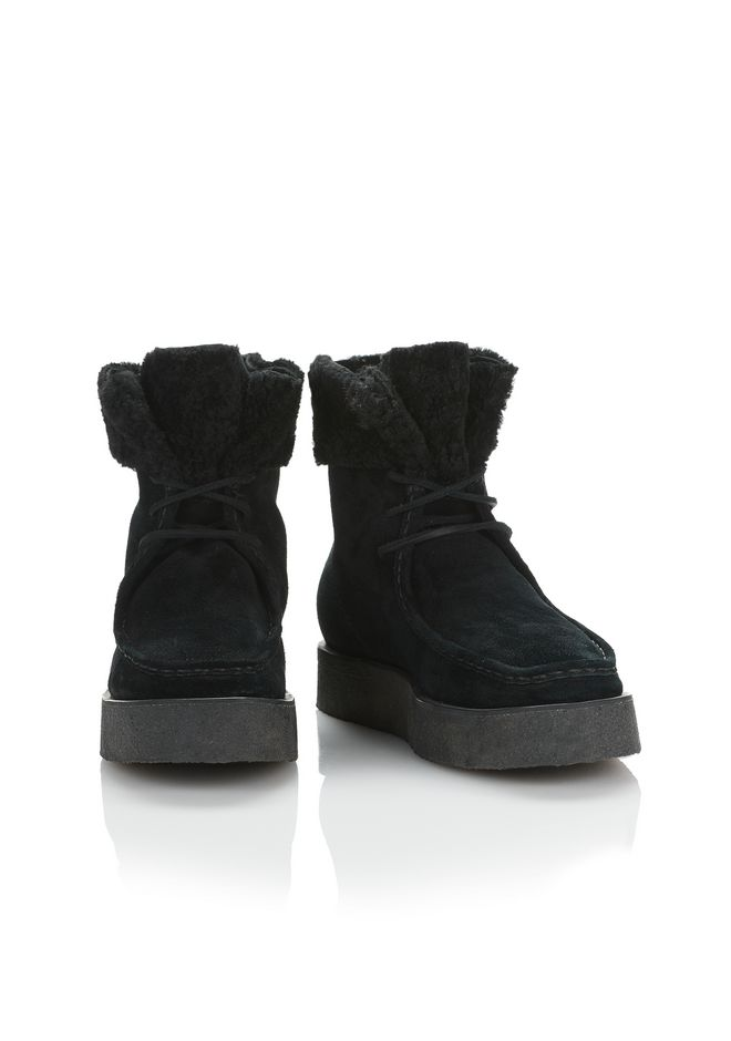 ALEXANDER WANG NOAH SUEDE BOOT WITH SHEARLING  BOOTS Adult 12_n_r