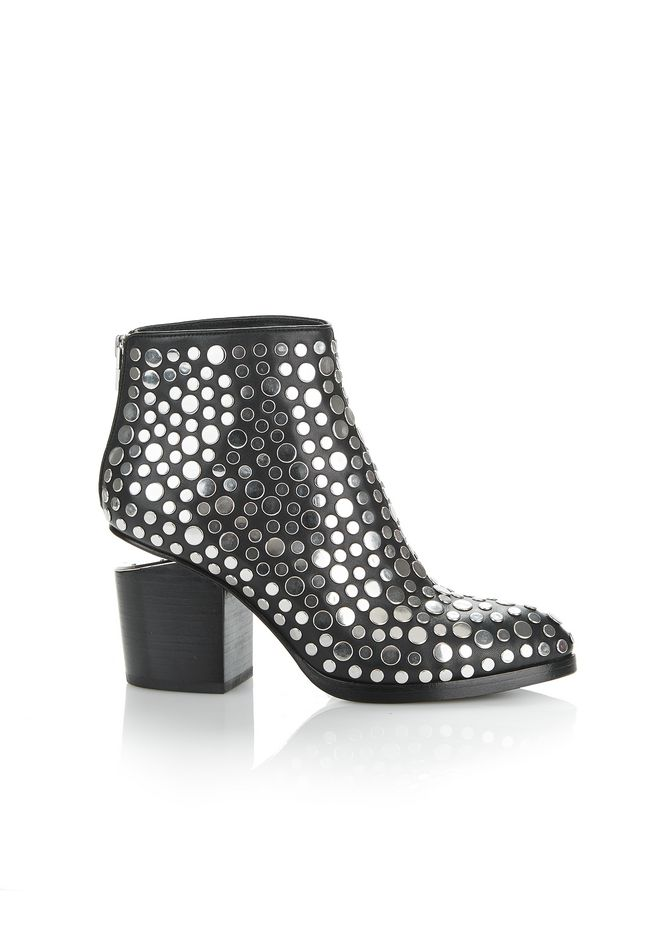 ALEXANDER WANG Footwear Women STUDDED GABI BOOTIE WITH RHODIUM
