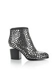 ALEXANDER WANG STUDDED GABI BOOTIE WITH RHODIUM BOOTS Adult 8_n_f