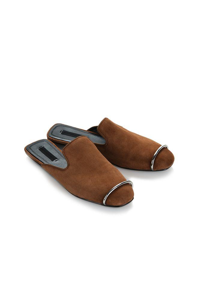 ALEXANDER WANG JAELLE SUEDE SLIDE 平底鞋 Adult 12_n_e