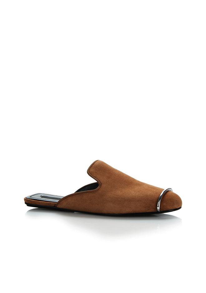 ALEXANDER WANG JAELLE SUEDE SLIDE 平底鞋 Adult 12_n_f