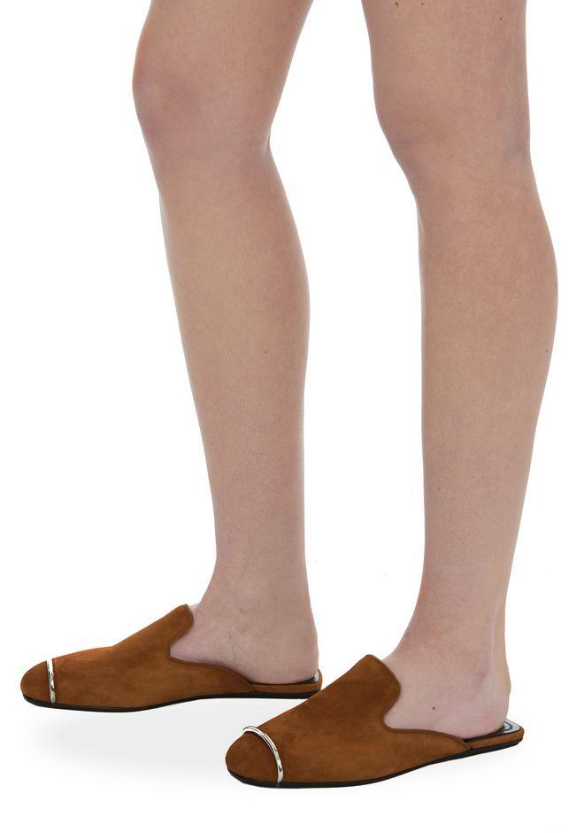 ALEXANDER WANG JAELLE SUEDE SLIDE 平底鞋 Adult 12_n_r