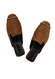 ALEXANDER WANG JAELLE SUEDE SLIDE 平底鞋 Adult 8_n_d