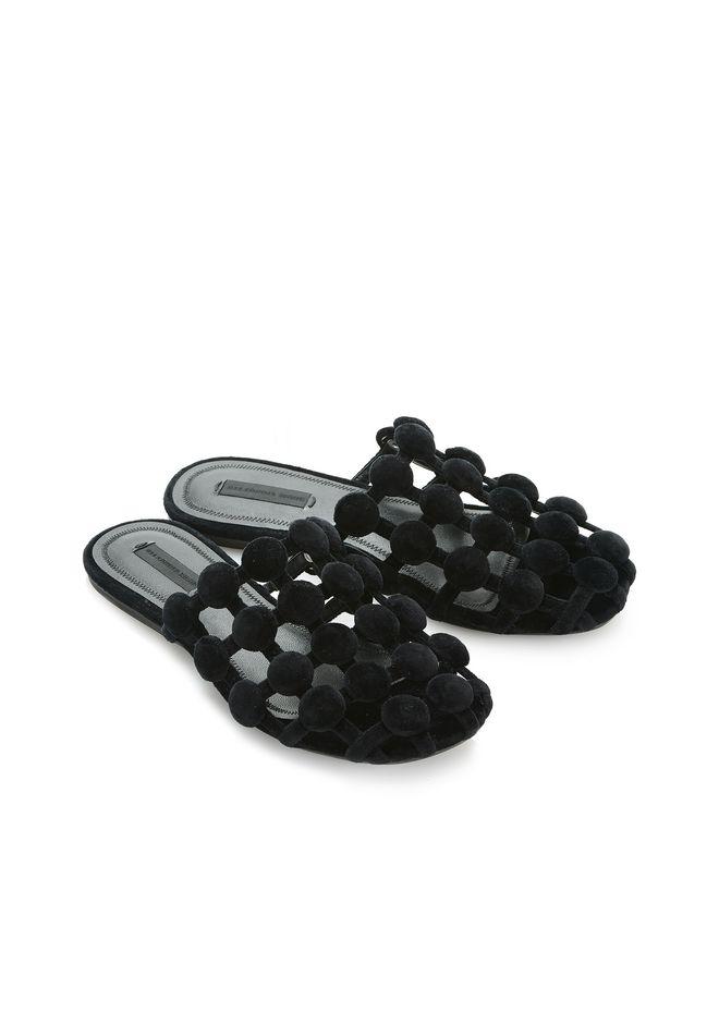 ALEXANDER WANG AMELIA VELVET SLIDE 平底鞋 Adult 12_n_d