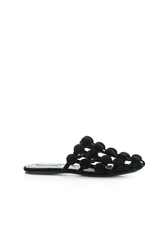 ALEXANDER WANG AMELIA VELVET SLIDE 平底鞋 Adult 12_n_f