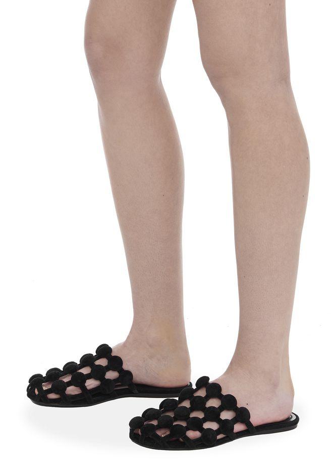 ALEXANDER WANG AMELIA VELVET SLIDE 平底鞋 Adult 12_n_r