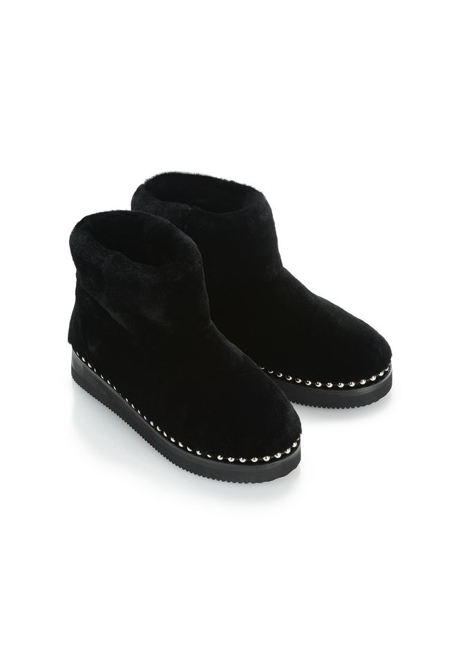 ALEXANDER WANG YUMI SHEARLING BOOTIE BOOTS Adult 12_n_a