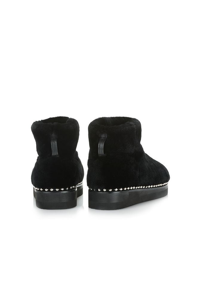 ALEXANDER WANG YUMI SHEARLING BOOTIE BOOTS Adult 12_n_d