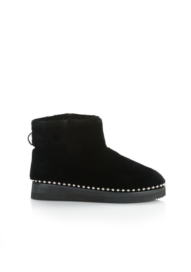 ALEXANDER WANG YUMI SHEARLING BOOTIE BOOTS Adult 12_n_f