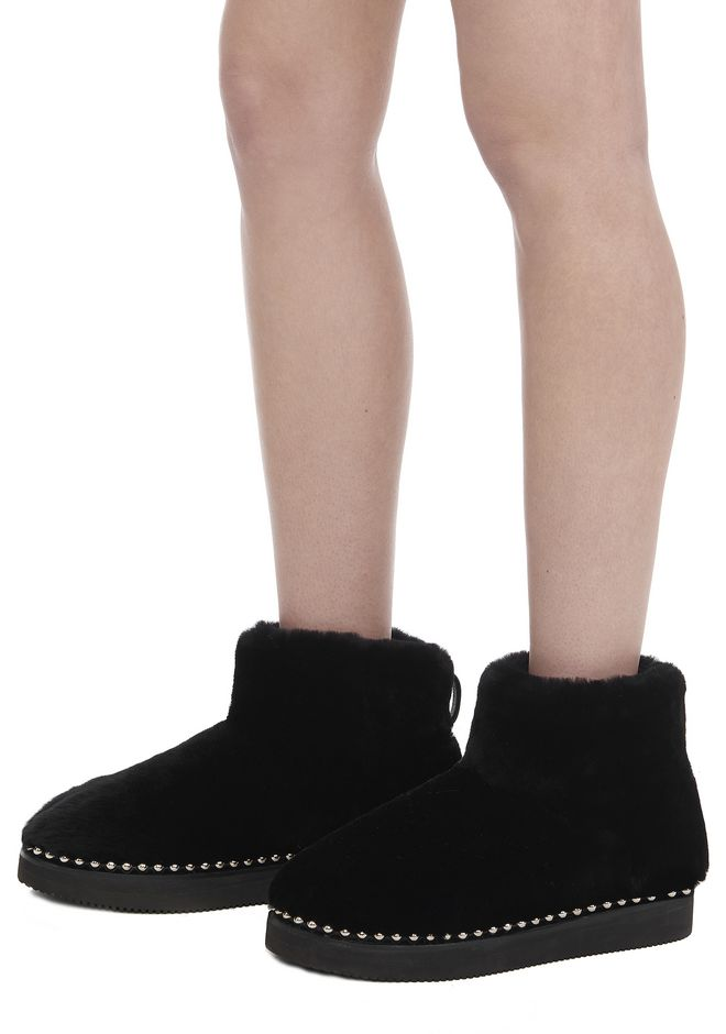 ALEXANDER WANG YUMI SHEARLING BOOTIE BOOTS Adult 12_n_r