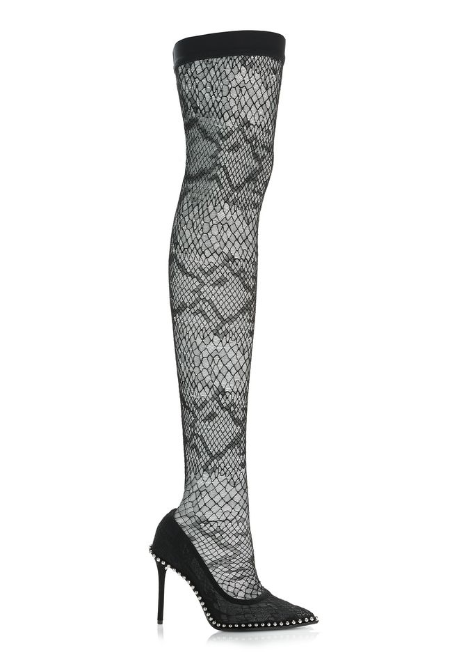 ALEXANDER WANG Heels Women LYRA LACE THIGH HIGH BOOT