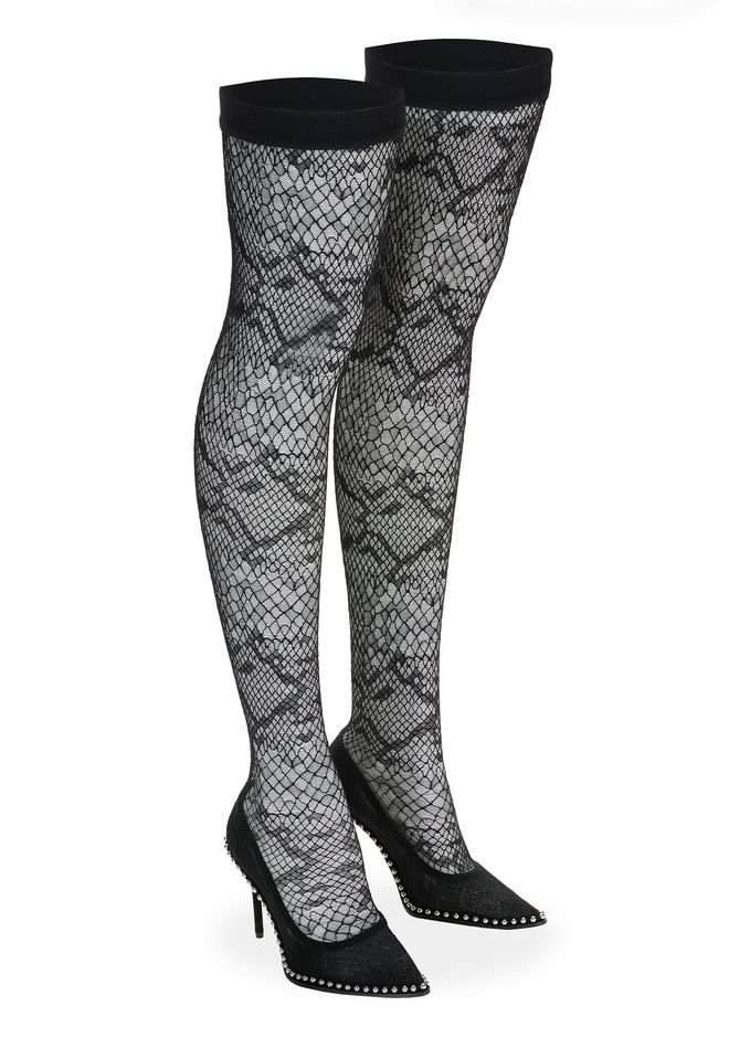 ALEXANDER WANG LYRA LACE THIGH HIGH BOOT 中跟鞋 Adult 12_n_d