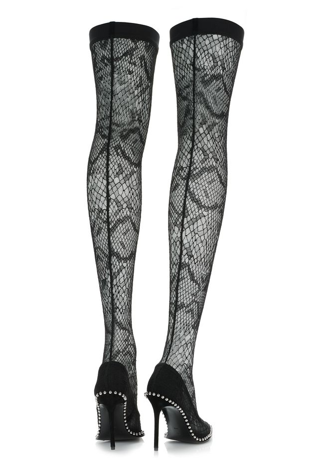 ALEXANDER WANG LYRA LACE THIGH HIGH BOOT 中跟鞋 Adult 12_n_e