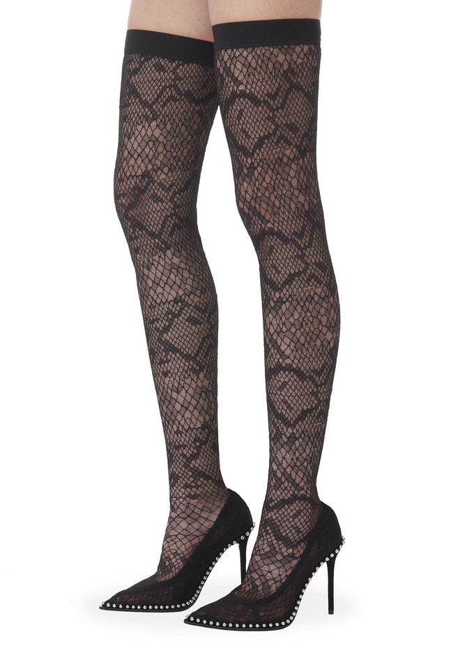 ALEXANDER WANG LYRA LACE THIGH HIGH BOOT 中跟鞋 Adult 12_n_r