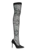 ALEXANDER WANG LYRA LACE THIGH HIGH BOOT 中跟鞋 Adult 8_n_f