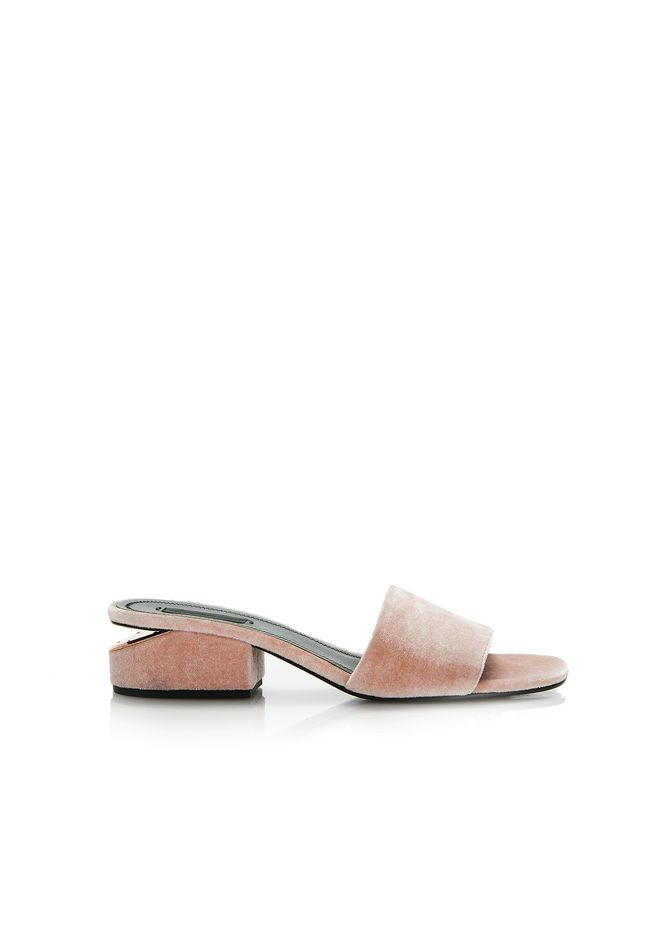 ALEXANDER WANG sandals LOU VELVET SANDAL WITH RHODIUM