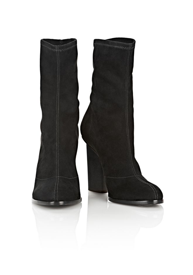 ALEXANDER WANG GIA SUEDE HIGH HEEL BOOTIE BOOTS Adult 12_n_a