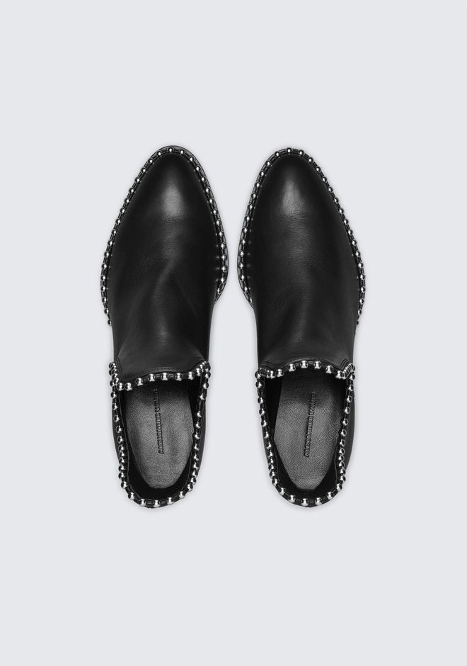 ALEXANDER WANG BALL STUD KORI OXFORD WITH RHODIUM BOOTS Adult 12_n_e