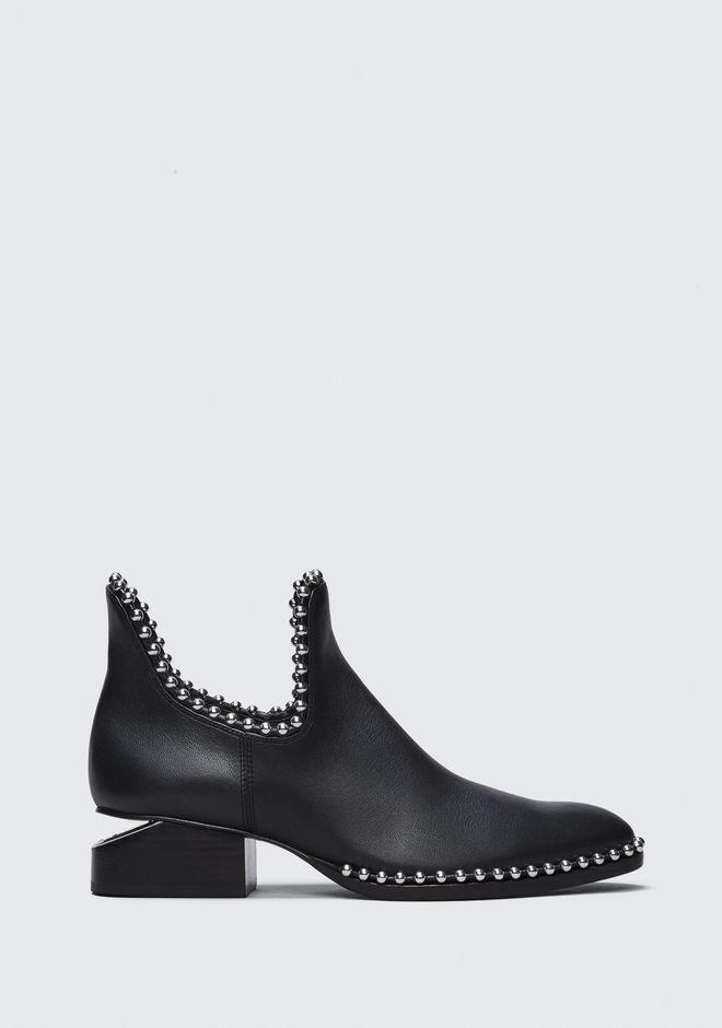 ALEXANDER WANG BALL STUD KORI OXFORD WITH RHODIUM BOOTS Adult 12_n_f