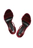 ALEXANDER WANG ABBY VELVET SANDAL WITH RHODIUM Heels Adult 8_n_d