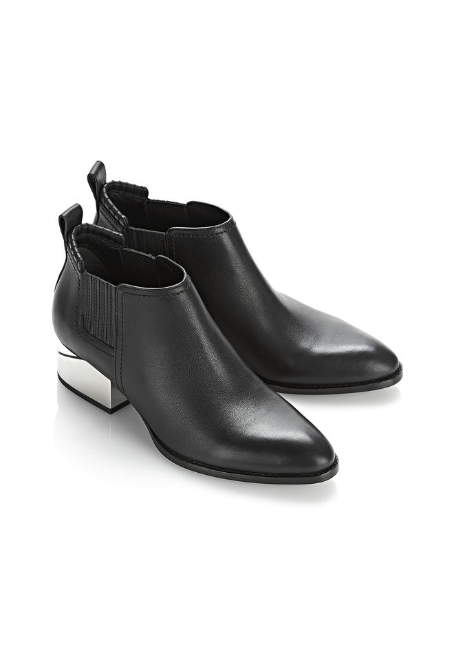 ALEXANDER WANG KORI OXFORD WITH SILVER METAL HEEL Ankle boots Adult 12_n_a