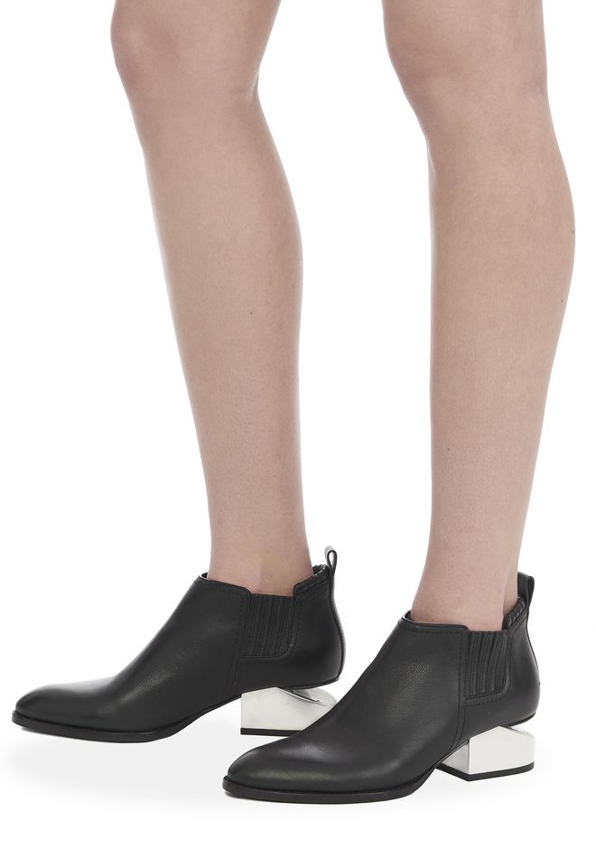 ALEXANDER WANG KORI OXFORD WITH SILVER METAL HEEL Ankle boots Adult 12_n_r