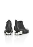 ALEXANDER WANG KORI OXFORD WITH SILVER METAL HEEL Ankle boots Adult 8_n_e