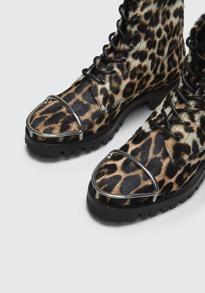 ALEXANDER WANG LYNDON LEOPARD BOOT BOOTS Adult 12_n_r