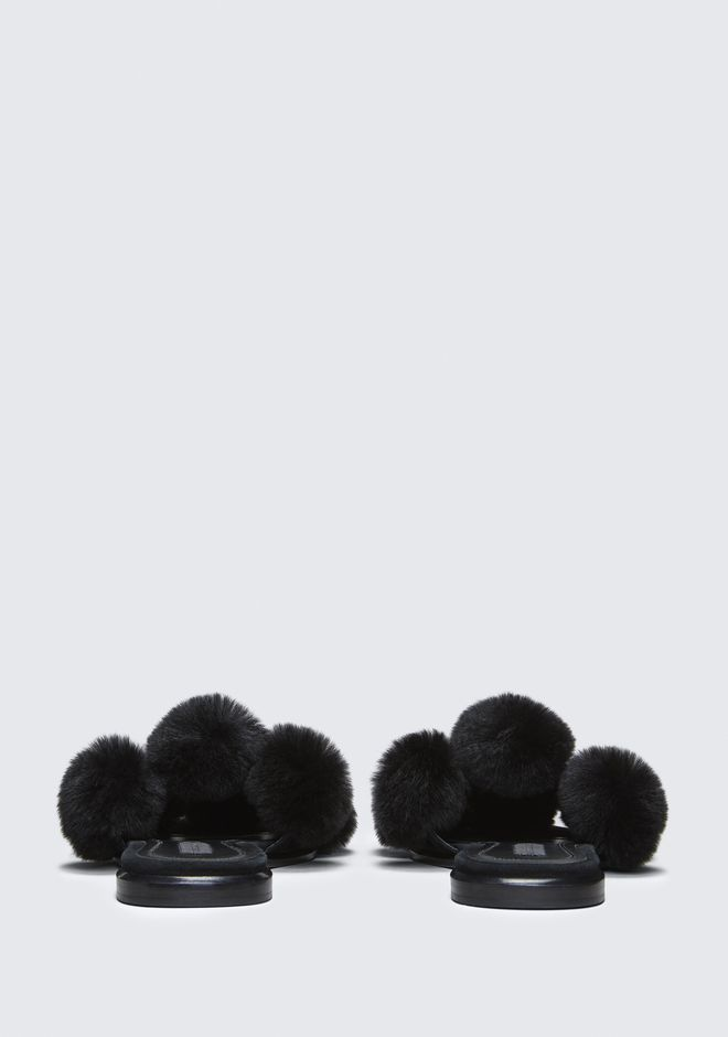 ALEXANDER WANG AVA FUR SLIDE SANDAL SANDALS Adult 12_n_d