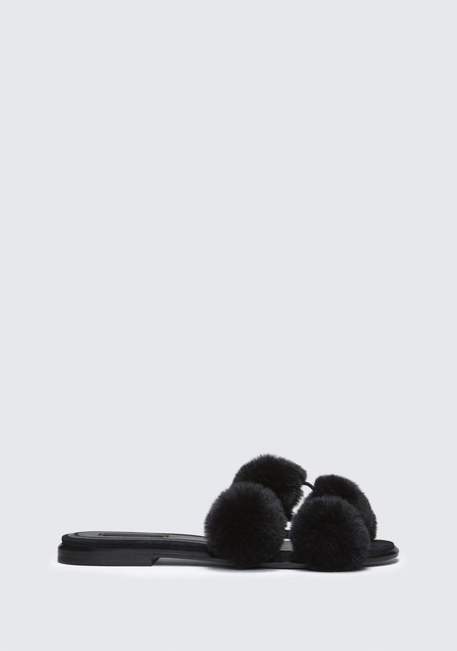ALEXANDER WANG AVA FUR SLIDE SANDAL SANDALS Adult 12_n_f