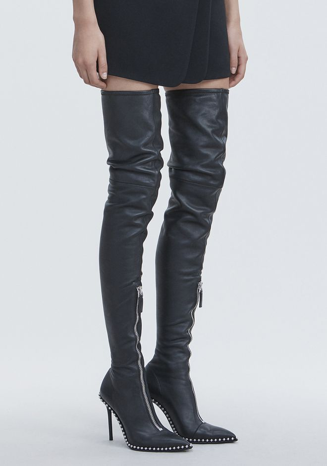 ALEXANDER WANG ERI THIGH HIGH BOOT BOOTS Adult 12_n_a