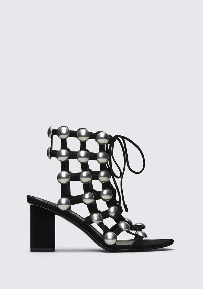 Rainey Mid Heel Sandals in Black