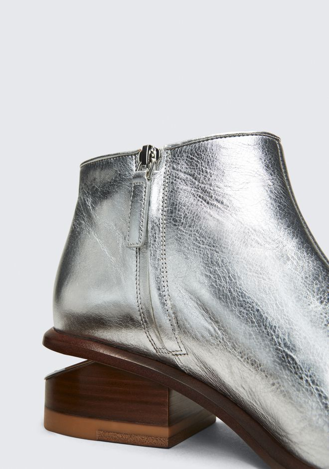 ALEXANDER WANG KORI SILVER BOOTIE BOTTES Adult 12_n_a