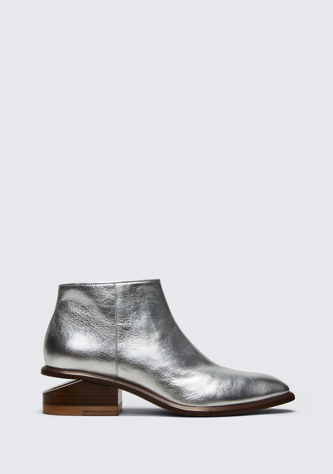 ALEXANDER WANG KORI SILVER BOOTIE BOTTES Adult 12_n_f