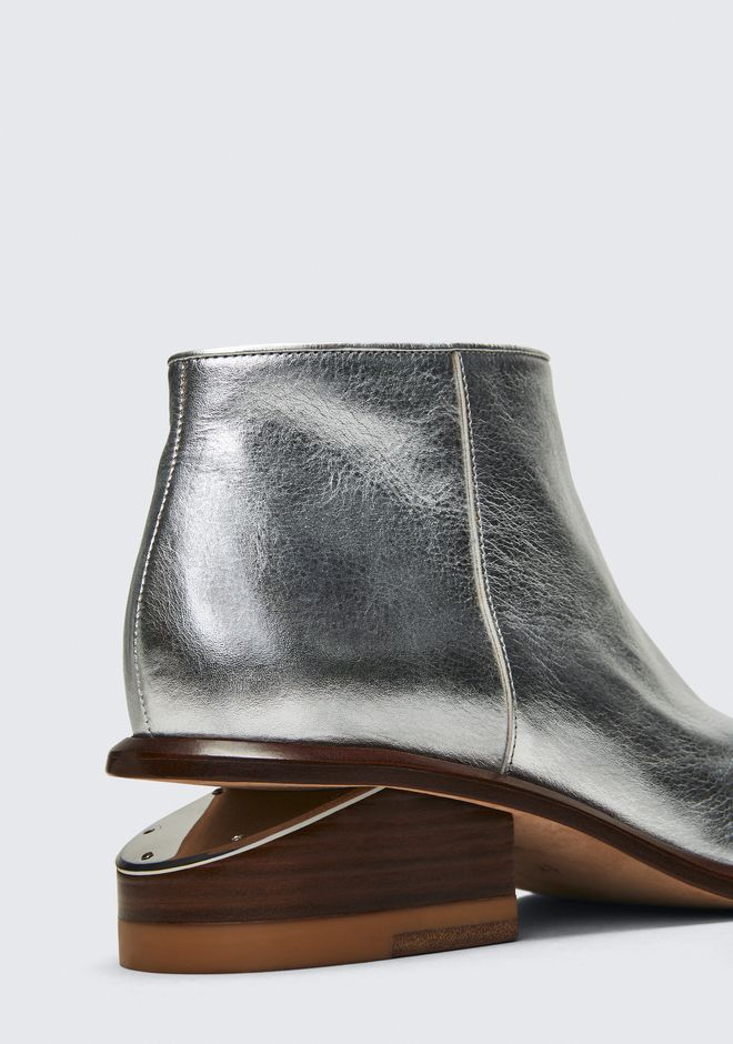 ALEXANDER WANG KORI SILVER BOOTIE BOTTES Adult 12_n_r