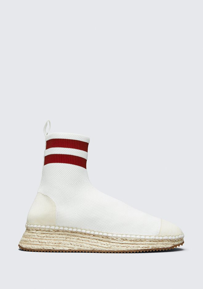 ALEXANDER WANG DYLAN KNIT ESPADRILLE BOOTIE FLATS Adult 12_n_f