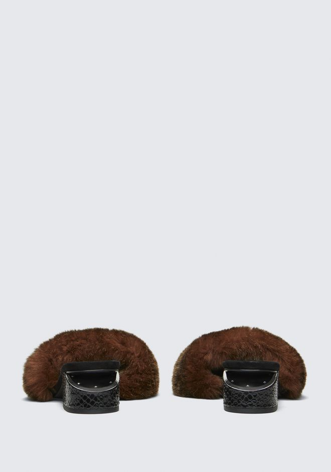ALEXANDER WANG FUR LOU SANDAL SANDALS Adult 12_n_d