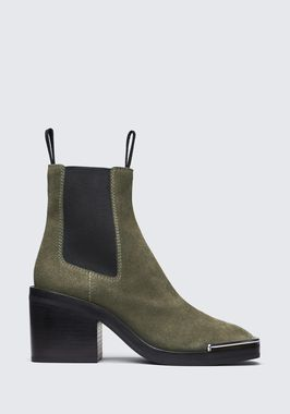 SUEDE HAILEY MID HEEL BOOT