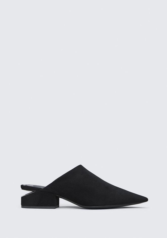 Ella Pointy Toe Mule in Black