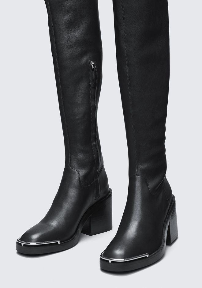 ALEXANDER WANG HAILEY THIGH HIGH BOOT BOOTS Adult 12_n_a