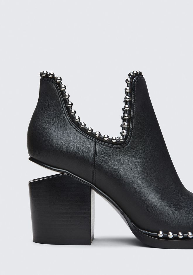 ALEXANDER WANG BALL STUD GABI CUT OUT BOOTS Adult 12_n_a