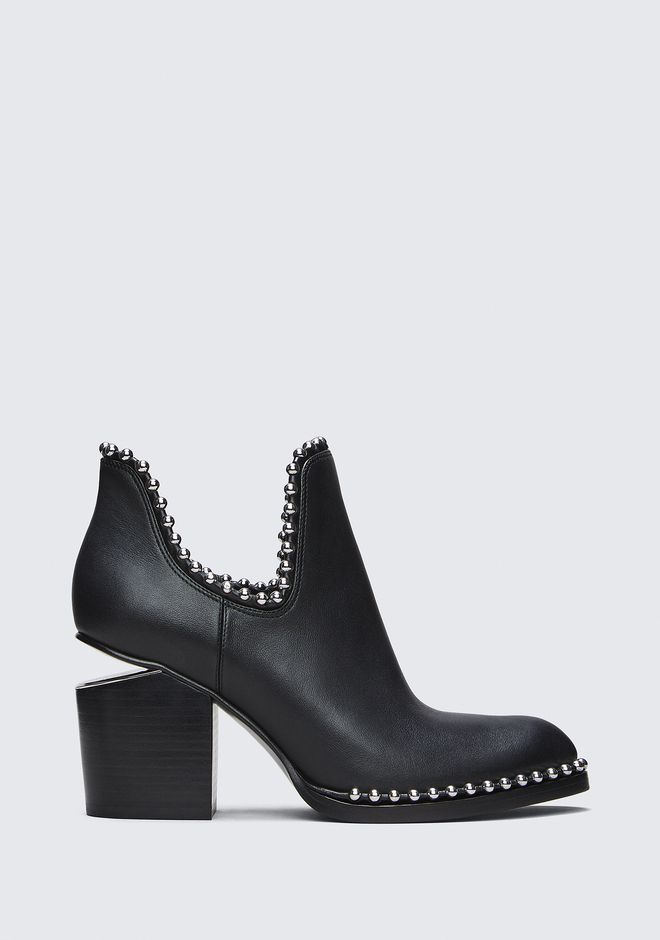 ALEXANDER WANG BALL STUD GABI CUT OUT BOOTS Adult 12_n_f