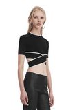 T by ALEXANDER WANG KNIT CRISS-CROSS TOP WITH TIPPING TOP Adult 8_n_a