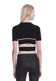 T by ALEXANDER WANG KNIT CRISS-CROSS TOP WITH TIPPING TOP Adult 8_n_d
