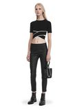 T by ALEXANDER WANG KNIT CRISS-CROSS TOP WITH TIPPING TOP Adult 8_n_f