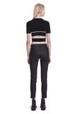 T by ALEXANDER WANG KNIT CRISS-CROSS TOP WITH TIPPING TOP Adult 8_n_r