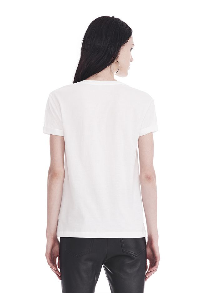T by ALEXANDER WANG SUPERFINE JERSEY V-NECK TEE TOP Adult 12_n_d