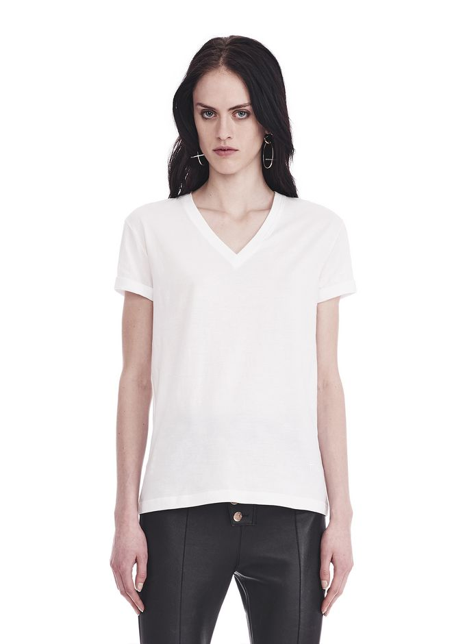T by ALEXANDER WANG SUPERFINE JERSEY V-NECK TEE 上衣 Adult 12_n_e